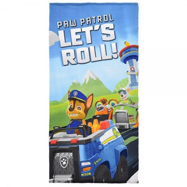 Paw Patrol Kinder Badetuch Duschtuch mit Chase & Rocky, 70 x 140 cm, blau