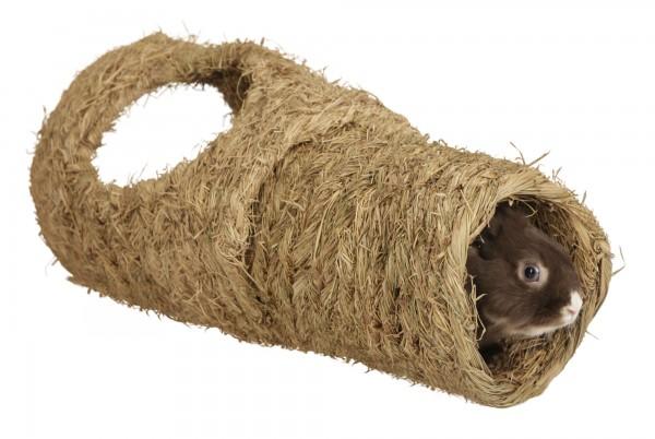 Kerbl Grastunnel für Kaninchen aus natürlichem Gras, 2-teilig