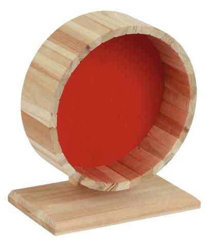 Laufrad aus Naturholz mit Ständer, 20 cm für Hamster