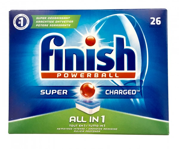 Finish Powerball All-in-1 Super Charged, Spülmaschinentabs, 26 Tabs