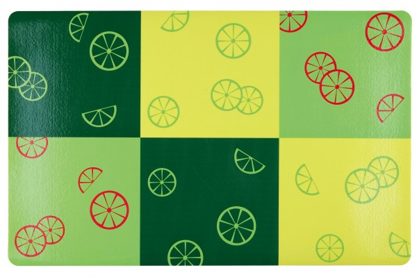 Trixie Fresh Fruits Napfunterlage - 44x28 cm, grün/gelb