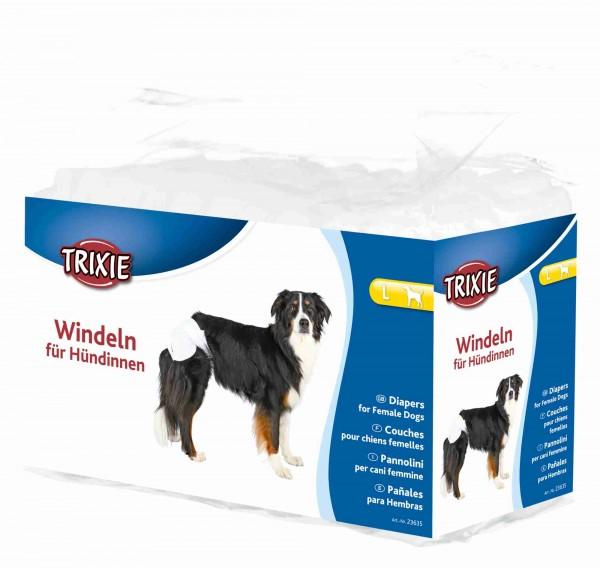Trixie Windeln für Hündinnen Hundewindeln - L - 12 Stück